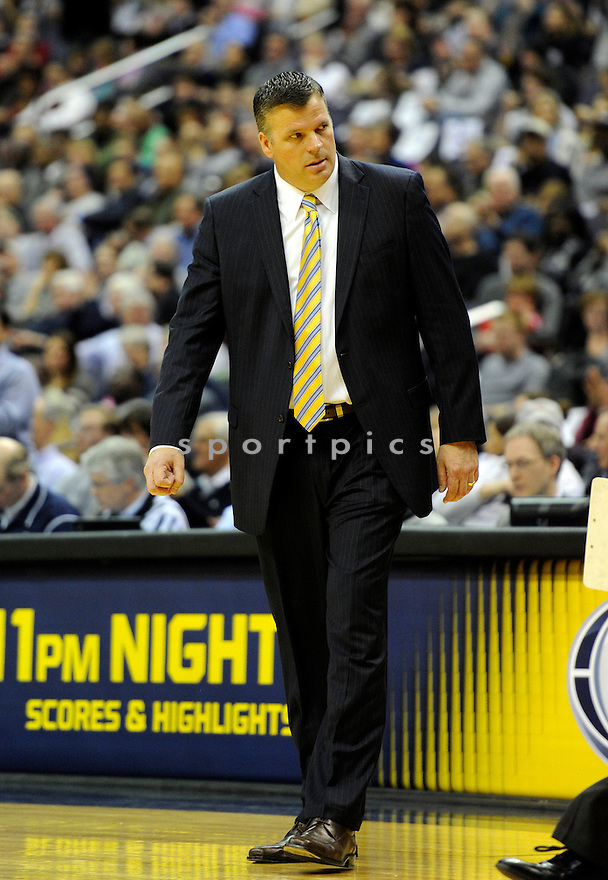 Creighton Bluejays Greg McDermott (HC) during a game against the Georgetown Hoyas on March 4, 2014 at the Verizon Center in Washington, DC. Georgetown beat Creighton 75-63.