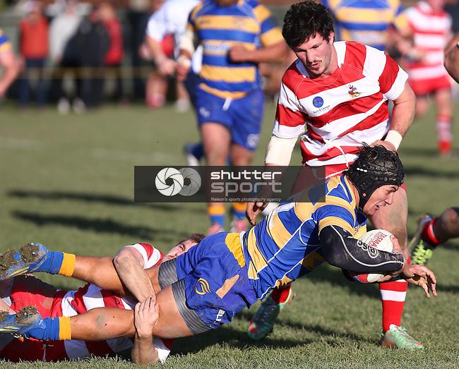NELSON, NEW ZEALAND - June 13 : Tasman Trophy Final: Waimea Old Boys v Wanderers June 13th, 2015 in Richmond, Nelson, New Zealand. (Photo by: Evan Barnes Shuttersport Limited)