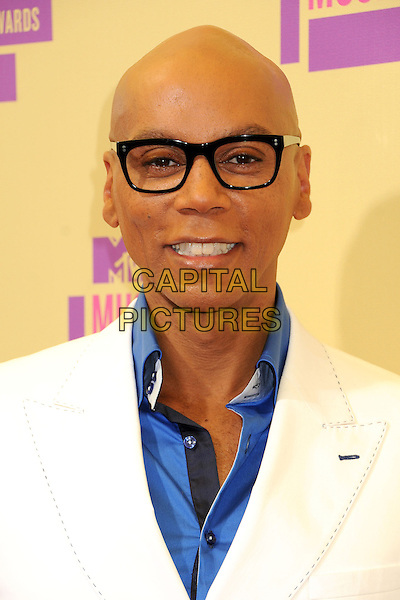 Ru Paul (RuPaul Andre Charles).Arrivals at the The 2012 MTV Video Music Awards held at Staples Center in Los Angeles, California, USA..September 6th, 2012.VMA's VMAS VMA headshot portrait white blue shirt glasses .CAP/ADM/BP.©Byron Purvis/AdMedia/Capital Pictures.