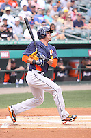 Houston Astros center fielder Rick Ankiel (46) at bat against the Miami Marlins during a spring training game at the Roger Dean Complex in Jupiter, Florida on March 12, 2013. Houston defeated Miami 9-4. (Stacy Jo Grant/Four Seam Images)........