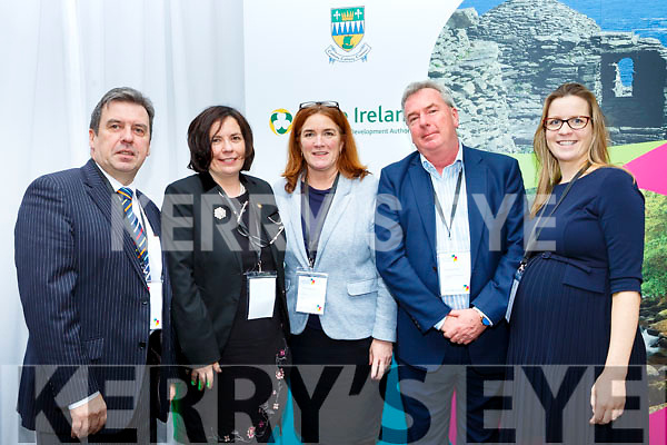 Basil Sheerin Kerry Airport, Moira Murrell Chief Executive of Kerry County Council, Grace O'Donnell Go Kerry, Padraig Hanrahan Ballybunion Development Company, and Ciara O'Grady Gleneagle Group  at the Lets Talk Tourism seminar in the Brehon Hotel on Friday