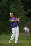 7 September 2008:     Anthony Kim watches his ball after driving off the fairway in the fourth and final round of play at the BMW Golf Championship at Bellerive Country Club in Town & Country, Missouri, a suburb of St. Louis, Missouri on Sunday September 7, 2008. The BMW Championship is the third event of the PGA's  Fed Ex Cup Tour.