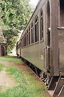 An old box car train car.