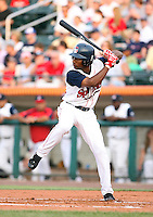 Rafael Cabreja of the Lowell Spinners, Class-A affiliate of the Boston Red Sox, during the New York-Penn League season.  Photo by:  Mike Janes/Four Seam Images