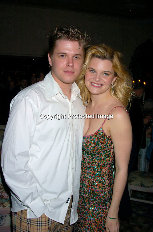 "David and Heather Tom ..at The Broadway opening of ""Prymate"" on May 5, 2004 ..starring Heather Tom, Phyllis Frelich, Andre De Shields and ..James Naughton at Tavern on The Green   in New York City. ..Photo by Robin Platzer, Twin Images"