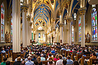 July 27, 2017; Alliance for Catholic Education (ACE) missioning Mass in the Basilica of the Sacred Heart. (Photo by Matt Cashore/University of Notre Dame)