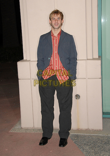 """DOMINIC MONAGHAN.Attending The Academy of Television Arts & Sciences' """"An Evening with Lost"""" held at The Leonard Goldenson Theater in North Hollywood, LA, California, USA,.January 13th 2007..full length red striped shirt grey jacket.CAP/DVS.©Debbie VanStory/Capital Pictures"""