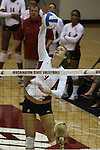Meagan Ganzer (#9) is shown during a Washington State volleyball match at Bohler Gym in Pullman, Washington, on September 11, 2009.