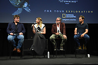 """LOS ANGELES - APRIL 15: Composer Benjamin Wallfisch, director Sophie Morgan, executive producer Guillermo Navarro, and cameraman David Reichert attend an FYC screening and Q&A for National Geographic's """"Hostile Planet"""" at NeueHouse on April 15, 2019 in Los Angeles, California. (Photo by Frank Micelotta/National Geographic/PictureGroup)"""