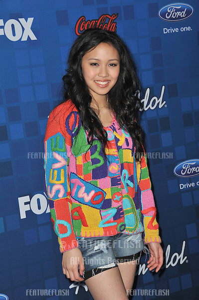 Thia Megia at the American Idol Finalists Party at The Grove Los Angeles..March 3, 2011  Los Angeles, CA.Picture: Paul Smith / Featureflash