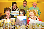 PAINTING: Enjoying the new art classes at Listry Community Centre on Friday last were front, l-r: Phil Duffy (Fossa), Kathleen O'Sullivan (Fossa), Margaret Roche (Ballyhar). Back l-r: Teresa Barrett (Faha), Jerry Switzer (Tutor), Dave Fleming (Listry).   Copyright Kerry's Eye 2008