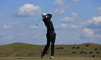 Kieran Buckley during Round Two of the West of England Championship 2016, at Royal North Devon Golf Club, Westward Ho!, Devon  23/04/2016. Picture: Golffile | David Lloyd<br /> <br /> All photos usage must carry mandatory copyright credit (&copy; Golffile | David Lloyd)