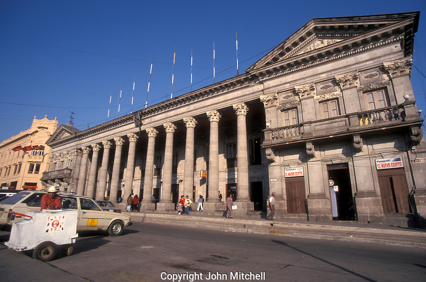The neoclassical style City Hall or Municipalidad in the city of Quetzaltenango, Guatemala