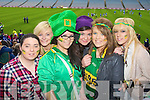 Lisa Cahill, Katie Walsh, Kaylee O'Connor, Jackie Wyles, Tara O'Mahony, Ellen Griffin Castkegregory fans at the All Ireland Junior Club Championship at Croke park on Sunday....