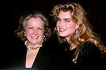 Brooke Shields and mom Teri Shields in  New York City. 1989..