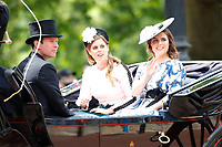 LONDON, ENGLAND - JUNE 08: Jack Broooksbank,  Princess Eugenie, Princess Beatrice at Trooping The Colour, the Queen's annual birthday parade, on June 08, 2019<br /> CAP/GOL<br /> ©GOL/Capital Pictures