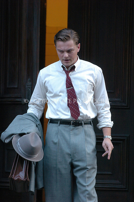 WWW.ACEPIXS.COM . . . . .  ....May 30 2007, New York City....Actor Leonardo DiCaprio on the set of 'Revolutionary Road', which is currently on location in downtown Manhattan and is being directed by Sam Mendes.....Please byline: AJ Sokalner - ACEPIXS.COM..... *** ***..Ace Pictures, Inc:  ..te: (646) 769 0430..e-mail: info@acepixs.com..web: http://www.acepixs.com