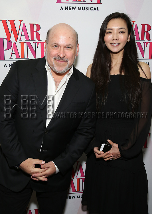 Frank Wildhorn and Yoka Wao attend the Broadway Opening Night Performance of 'War Paint' at the Nederlander Theatre on April 6, 2017 in New York City