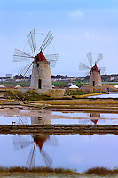 Trapani, Sicily, Italy, May 2007. The famous salt pans of Trapani. The rugged nature of sicily harbours beautiful villages and ruins of ancient civilizations. Photo by Frits Meyst/Adventure4ever.com