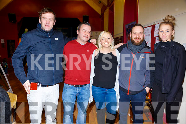 Pictured at the Cahersiveen Community Centre fund raiser on Sunday evening were l-rl Niall O'Driscoll, Rory McCarthy, Katie Murphy, James McCarty & Sinead Sheahan.