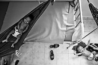 Children during a relaxed moment of their hospitalization.