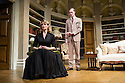 London, UK. 26.03.2014. Theatre Royal Bath Production's West End transfer of RELATIVE VALUES, by Noel Coward, opens at the Harold Pinter Theatre. Picture shows: Leigh Zimmerman (Miranda Frayle) and Sam Hoare (Nigel). Photograph © Jane Hobson.