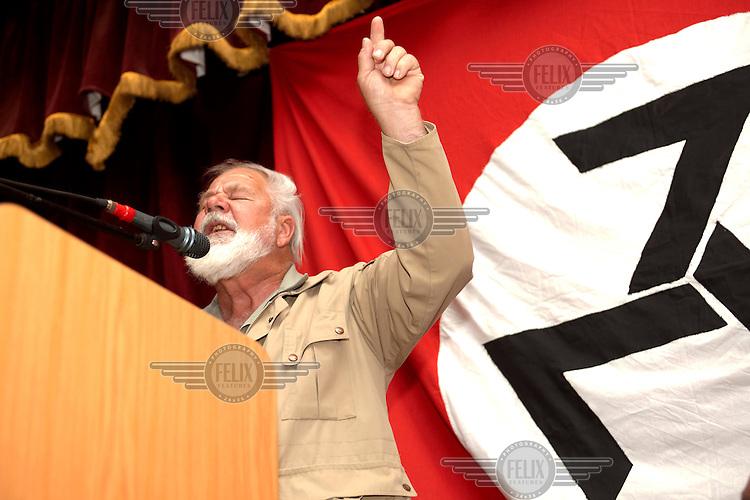 Eugene Terre'Blanche, leader of the Afrikaner Weerstandsbeweging (AWB - Afrikaner Resistance Movement).