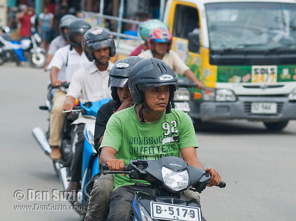 Traffic on a busy street in Dili, Timor-Leste (East Timor)
