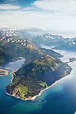 USA, Alaska, Homer, aerial view of Kachemak Bay State Park and Wilderness, Kenai mountains, Koyuktolik Bay, Gulf of Alaska