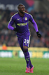 Eliaquim Mangala of Manchester City - Barclays Premier League - Stoke City vs Manchester City - Britannia Stadium - Stoke on Trent - England - 11th February 2015 - Picture Simon Bellis/Sportimage