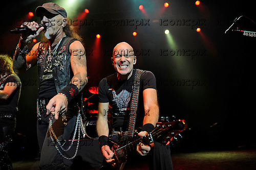 ACCEPT - vocalist Mark Tornillo and guitarist Wolf Hoffman - performing live at the Forum in London UK - 27 Nov 2014.  Photo credit: George Chin/IconicPix