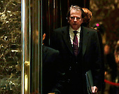 Attorney and United States Federal Election Commission member Don McGahn is seen in the lobby of Trump Tower in New York, New York, USA, 14 January 2017. President-elect Donald Trump will be sworn in as the 45th President of the United States 20 January 2017.<br /> Credit: Jason Szenes / Pool via CNP