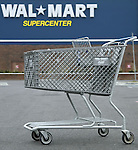 A shopping cart in the parking lot of Wal-Mart Thursday, March 2, 2006, in Grove City, Ohio.<br />