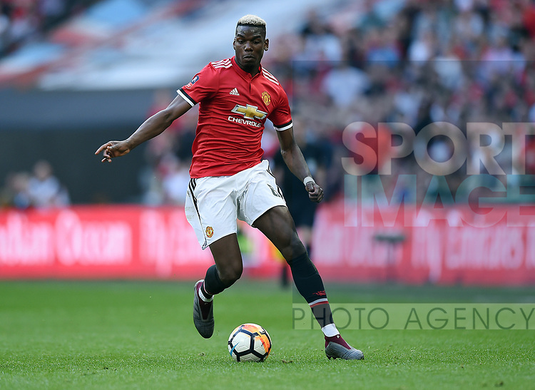 Paul Pogba of Manchester United during the FA cup semi-final match at Wembley Stadium, London. Picture date 21st April, 2018. Picture credit should read: Robin Parker/Sportimage