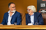 Martin O´Connor (I) and Carlos Lopez Puccio during the press conference of Les Luthiers, Viejos Hazmerreires. September 16, 2019. (ALTERPHOTOS/Johana Hernandez)