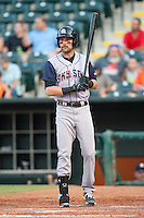 Colorado Springs Sky Sox first baseman Ben Paulsen (16) during the Pacific League game against the Oklahoma City RedHawks at the Chickasaw Bricktown Ballpark on August 3, 2014 in Oklahoma City, Oklahoma.  The RedHawks defeated the Sky Sox 8-1.  (William Purnell/Four Seam Images)