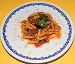 Penne and Tomato Sauce, Sabatini Restaurant, Florence, Tuscany, Italy