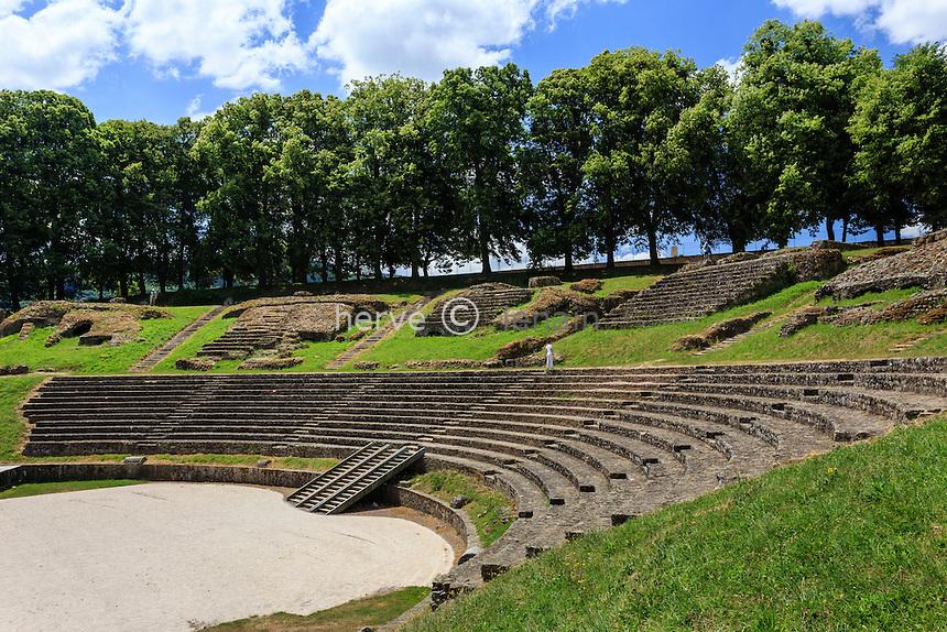 France, Saône-et-Loire (71), Autun, le théatre romain // France, Saone et Loire, Autun, Roman theater