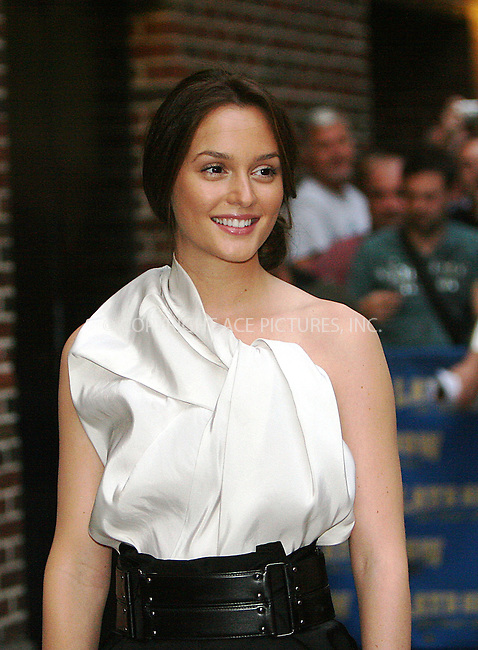 WWW.ACEPIXS.COM . . . . .  ....September 8 2009, New York City....Actress Leighton Meester made an appearance at the 'Late Show with David Letterman' on September 8 2009 in New York City....Please byline: NANCY RIVERA- ACE PICTURES.... *** ***..Ace Pictures, Inc:  ..tel: (212) 243 8787 or (646) 769 0430..e-mail: info@acepixs.com..web: http://www.acepixs.com