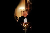 United States President Donald J. Trump makes remarks during the Governors' Ball at the White House in Washington, U.S., on Sunday, February 9, 2019. Trump was recently acquitted by the US Senate in the impeachment trial. <br /> Credit: Alex Wroblewski / Pool via CNP/AdMedia