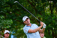 Kevin Kisner (USA) watches his tee shot on 7 during round 2 of the Dean &amp; Deluca Invitational, at The Colonial, Ft. Worth, Texas, USA. 5/26/2017.<br /> Picture: Golffile | Ken Murray<br /> <br /> <br /> All photo usage must carry mandatory copyright credit (&copy; Golffile | Ken Murray)
