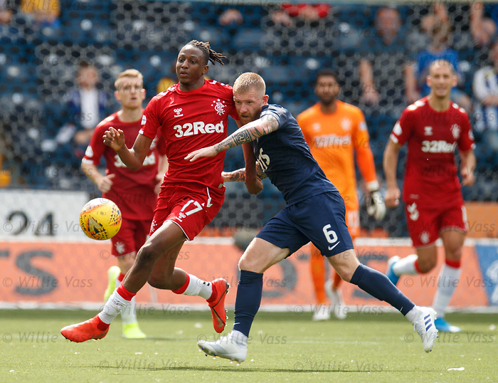 04.08.2019 Kilmarnock v Rangers: Joe Aribo and Alan Power