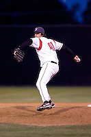 July 7, 2009: Salem-Keizer Volcanoes' Gary Moran pitches against the Tri-City Dust Devils during a Northwest League game at Volcanoes Stadium in Salem, Oregon.