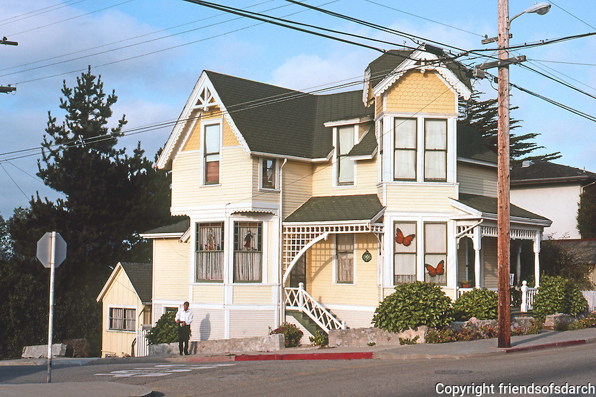 Pacific Grove: Typically small house. N.E. corner of 9th & Central. Photo '85.