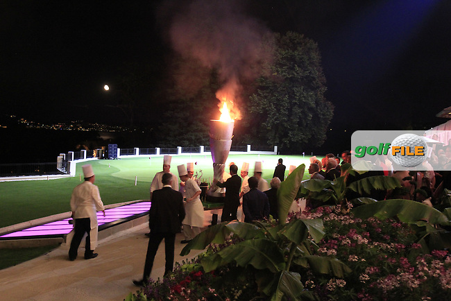 Firework display during the Gala Dinner to celebrate the 20th anniversary of the Evian Championship held at the Hotel Royal after Saturday's Round 3 of The Evian Championship 2014 held at the Evian Resort Golf Club, Evian-les-Bains, France.: Picture Eoin Clarke, www.golffile.ie: 13th September 2014