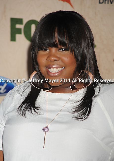 "CULVER CITY, CA - SEPTEMBER 12: Amber Riley attends the ""FOX Fall Eco-Casino Party"" at Book Bindery on September 12, 2011 in Culver City, California."
