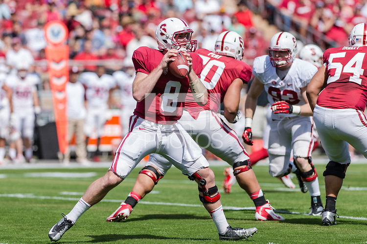 STANFORD, CA - APRIL 13, 2013: Cardinal and White Spring Football Game at Stanford Stadium, in Stanford, California.