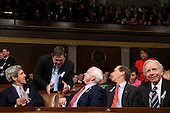 From left: United States Senator John Kerry (Democrat of Massachusetts), U.S. Representative Michael Burgess (Republican of Texas), U.S. Senator John McCain (Republican of Arizona), U.S. Senator Tom Udall (Democrat of New Mexico), and U.S. Senator Joe Lieberman (Independent Democrat of Connecticut) talk in the House Chamber before the start of U.S. President Barack Obama's State of the Union address at the U.S. Capitol, in Washington, D.C., Tuesday, January 25, 2010. .Mandatory Credit: David Lienemann - White House via CNP