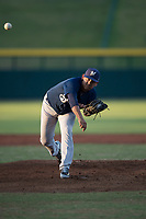 AZL Brewers starting pitcher Brayan Salaya (10) follows through on his delivery during an Arizona League game against the AZL Cubs 1 at Sloan Park on June 29, 2018 in Mesa, Arizona. The AZL Cubs 1 defeated the AZL Brewers 7-1. (Zachary Lucy/Four Seam Images)