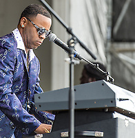 Davell Crawford performs at the 2014 Jazz and Heritage Festival in New Orleans, LA.